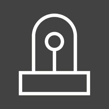 security lights: Police car siren icon Illustration