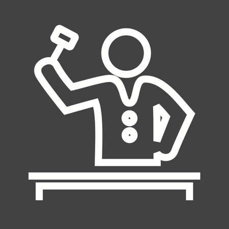 arbitration: Judge in court icon