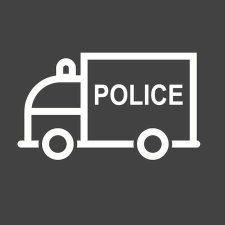 highway patrol: Police van icon Illustration