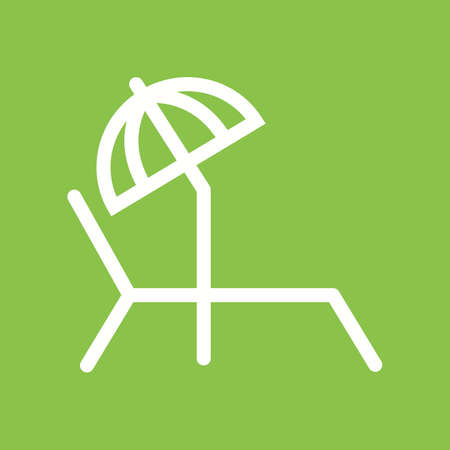 sunbathing: Sunbathing chair icon