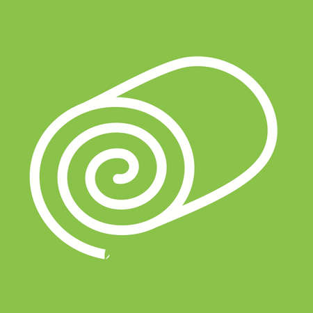 swiss roll: swiss roll cake icon Illustration