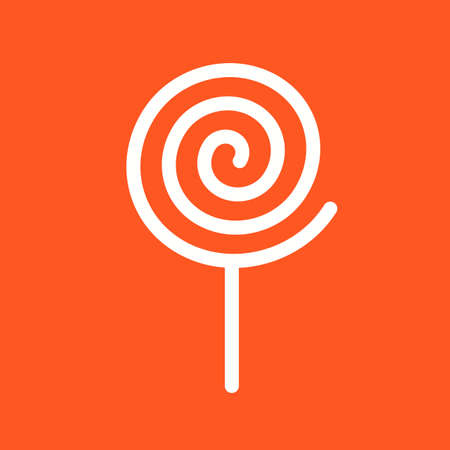 mobile apps: Candy, cane, stick icon vector image. Can also be used for sweets and confectionery. Suitable for use on web apps, mobile apps and print media. Illustration