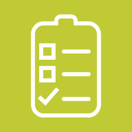 menu icon: Checklist, outline, draft icon vector image.Can also be used for admin dashboard. Suitable for mobile apps, web apps and print media. Illustration