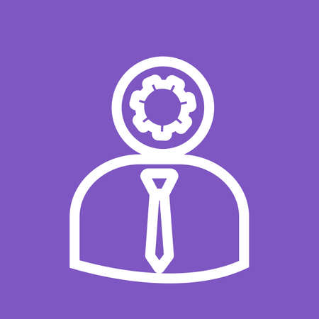 felügyelő: Admin, manager,supervisor icon vector image.Can also be used for admin dashboard. Suitable for mobile apps, web apps and print media.