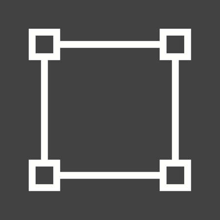 media network: Node, network, diagram icon vector image. Can also be used for shapes and geometry. Suitable for use on web apps, mobile apps and print media.