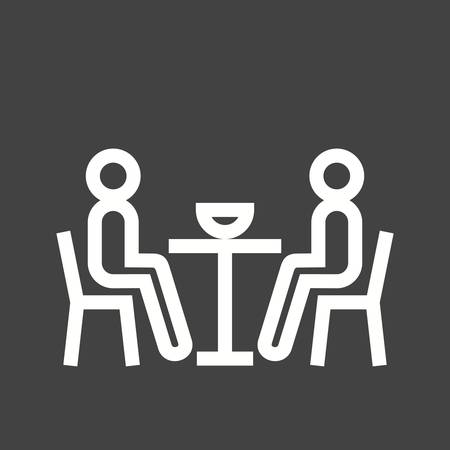 friends eating: Dinner, people, party icon vector image. Can also be used for activities. Suitable for use on web apps, mobile apps and print media.