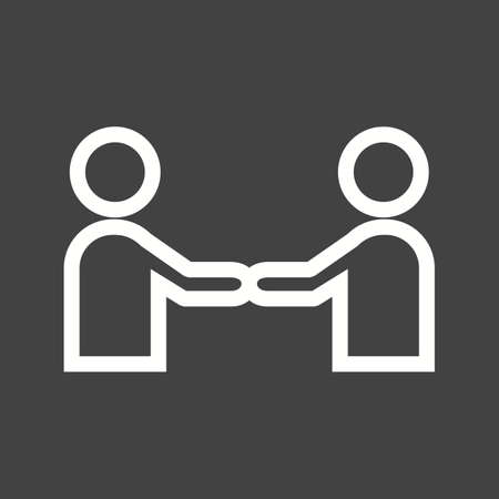 trust concept: Business, handshake, trust icon vector image. Can also be used for activities. Suitable for use on web apps, mobile apps and print media. Illustration