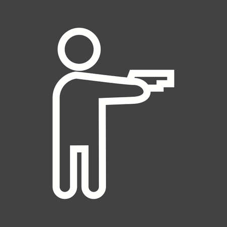 use pistol: Pistol, gun, hand icon vector image. Can also be used for activities. Suitable for use on web apps, mobile apps and print media. Illustration