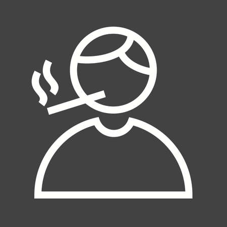smoking cigarette: Smoke, smoking, cigarette icon vector image. Can also be used for activities. Suitable for use on web apps, mobile apps and print media.