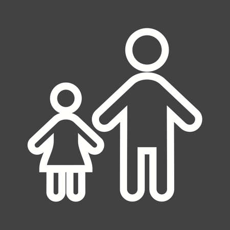 group of kids: Standing, family, children icon vector image. Can also be used for activities. Suitable for use on web apps, mobile apps and print media.