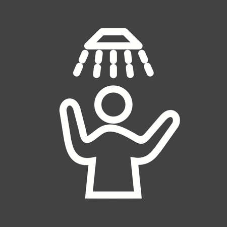 Shower, hair, bath icon vector image. Can also be used for activities. Suitable for use on web apps, mobile apps and print media.