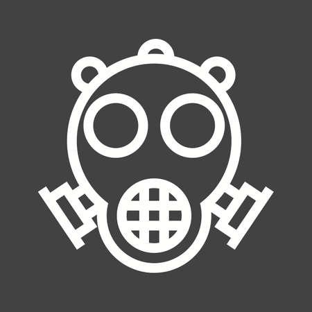 oxygen mask: Oxygen, mask, hospital icon vector image.
