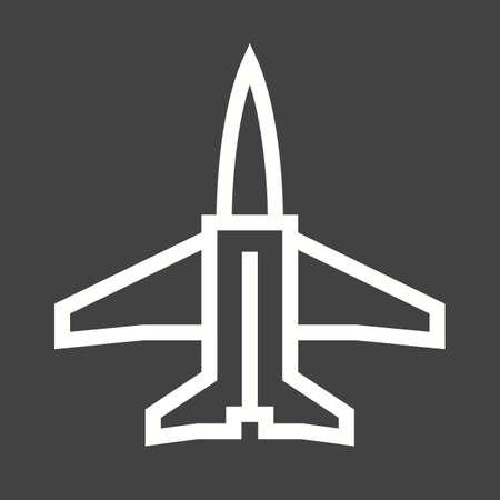 boeing: Fighter, jet, f-16 icon vector image.  Illustration