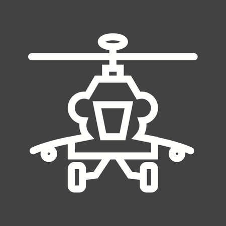 helicopter rescue: Helicopter, military, rescue icon vector image.