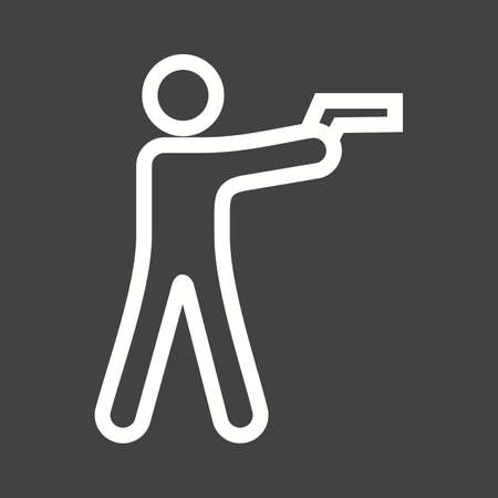 bullets: Shooting, hunting, bullets icon vector image.