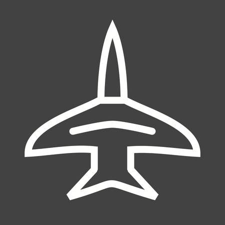 boeing: Fighter, jet, f-16 icon vector image.