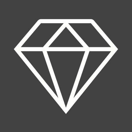 gemstones: Ring, diamond, jewelry icon vector image. Illustration
