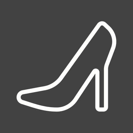 stilleto: Stilletos, heel, style icon vector image. Illustration