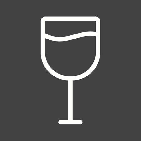 Goblet, glass, wine icon vector image.