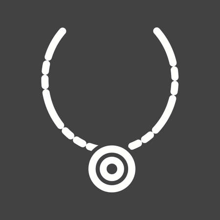 silver jewelry: Necklace, jewelry, silver icon vector image
