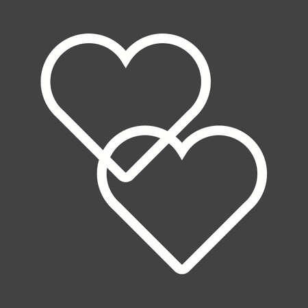wedding love: Hearts, love, wedding icon vector image.  Illustration