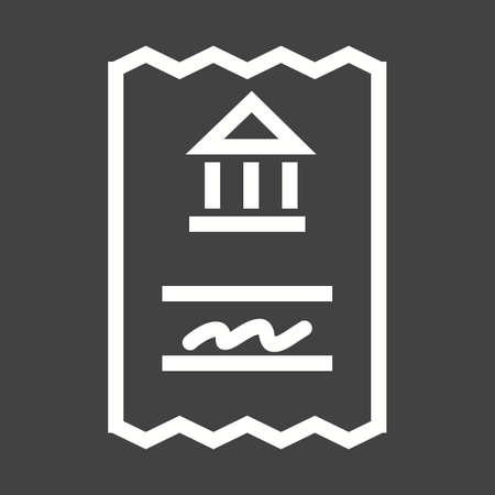 utilities: Draft, book, money icon vector image.