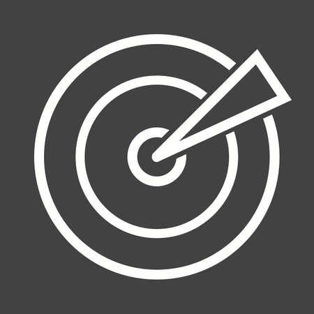 targeting: Marketing, segmentation, targeting icon vector image.