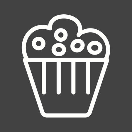 birthday party: Cupcake, birthday, party icon vector image.