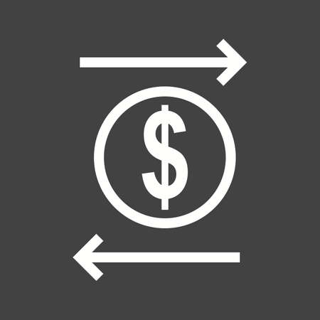 funds: Transaction, transfer, funds icon vector image.  Illustration