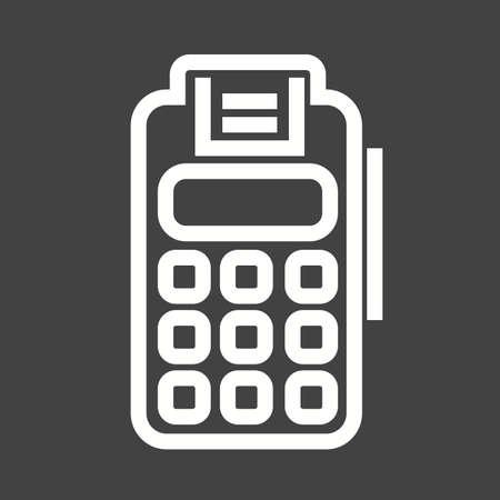 utilities: Card, machine, credit icon vector image.