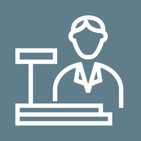 computer terminals: Cashier, bank, cash icon vector image.