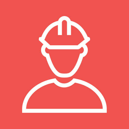 manufacturing occupation: Construction, engineering, manufacturing icon vector image. Illustration