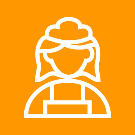 servant: Cleaning, maid, service icon vector image.  Illustration