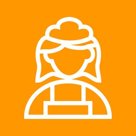 empleadas domesticas: Servicio de limpieza, mucama, servicio de imágenes de iconos de vectores.