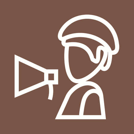 videographer: Director, video, production icon vector image.