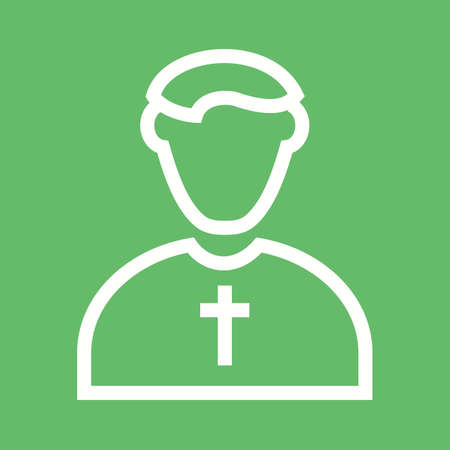 sacerdote: Sacerdote, imagen católico, cristiano del icono del vector.