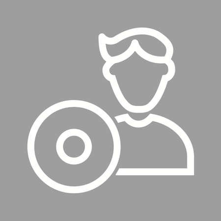 engineering icon: Software, computer, engineering icon vector image.
