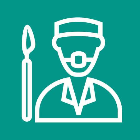 enfermera quirurgica: Cirujano, doctor, hospital icono imagen vectorial.