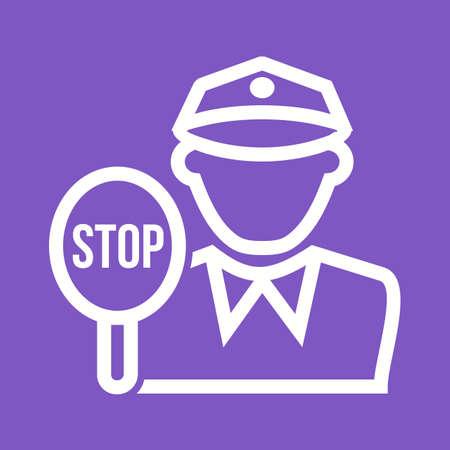 traffic cop: Police, traffic, cop icon vector image.  Illustration