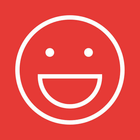 laughing: Laughing, man, smiling icon vector image.