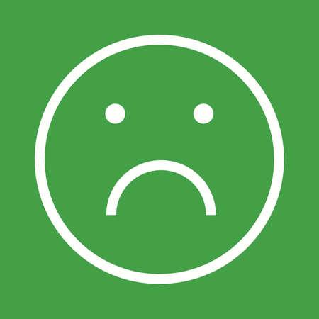 alone sad: Sad, alone, upset icon vector image.