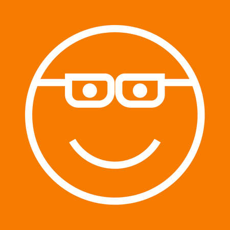 smug: Cartoon, bubble, smug icon vector image. Illustration