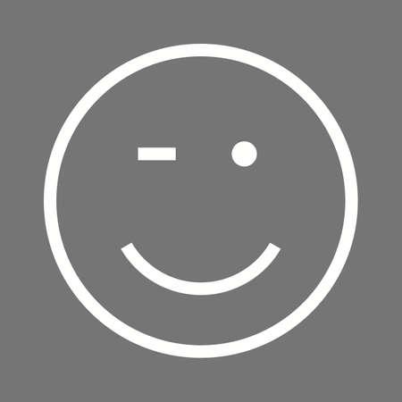 wink: Wink, man, winking icon vector image.  Illustration