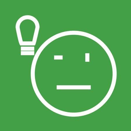 filament: Light, bulb, lightbulb icon vector image. Illustration