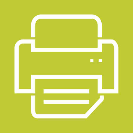inkjet: Printer, printing machine, digital printer icon vector image. Can also be used for printing, office equipment and copying. Suitable for web apps, mobile apps and print media
