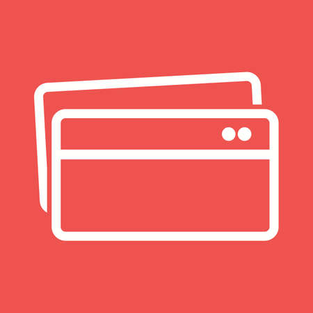 visa credit card: Card, credit, payment icon vector image.Can also be used for banking, finance, business. Suitable for web apps, mobile apps and print media.
