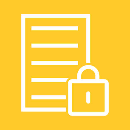 banking and finance: Data, security, lock, icon vector image.Can also be used for banking, finance, business. Suitable for web apps, mobile apps and print media.