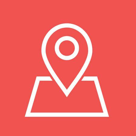 地図、場所、領域のアイコン ベクトル画像。携帯電話と通信の使用もできます。Web アプリ、携帯アプリ、印刷媒体での使用に適しています。  イラスト・ベクター素材