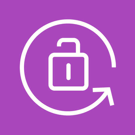 unlocked: screen setting, unlocked, view icon vector image. Can also be used for phone and communication. Suitable for use on web apps, mobile apps and print media.