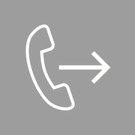 forwarding: Calls, phone, talk icon vector image. Can also be used for phone and communication. Suitable for use on web apps, mobile apps and print media. Illustration